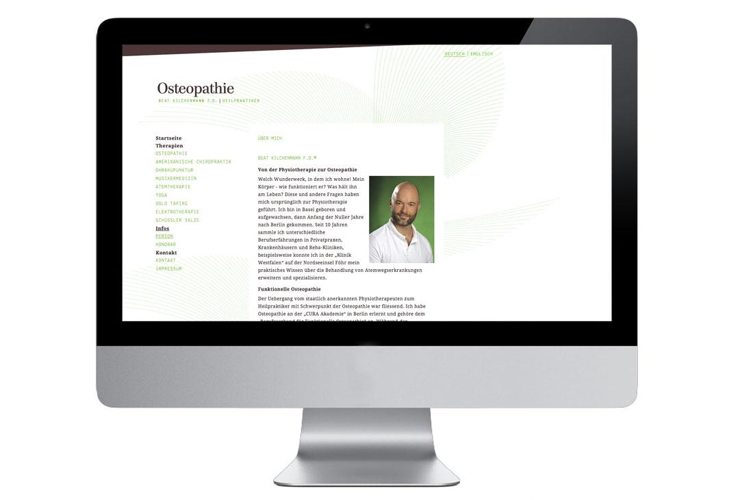 Praxis Kilchenmann Webseite