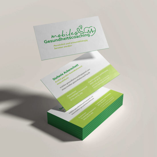 mobiles gesundheitscoaching Visitenkarten Vorschaubild